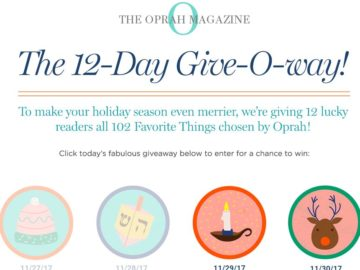 12-Day Give-O-Way Sweepstakes