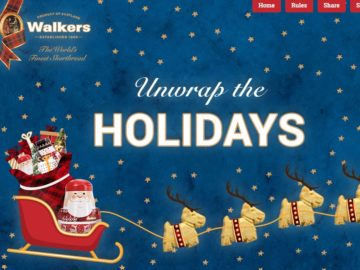 WALKERS SHORTBREAD – Unwrap the Holidays Instant Win Game