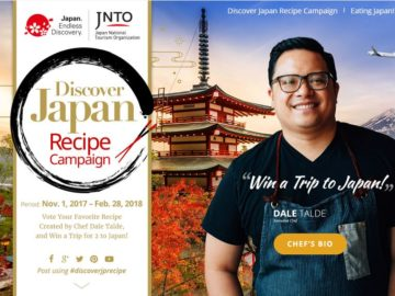 Discover Japan Recipe Campaign Sweepstakes
