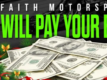 Faith Motorsports Will Pay Your Holiday Bills Sweepstakes