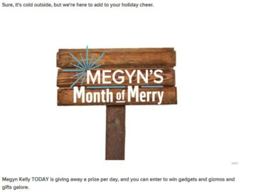 Megyn's Month of Merry Sweepstakes