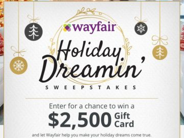 Wayfair's Holiday Dreamin' Giveaway