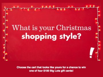 Win a $100 Big Lots Gift Card