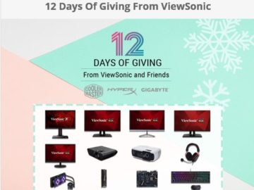 12 Days Of Giving by ViewSonic SWEEPSTAKES