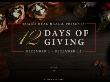 "Boar's Head Brand ""12 Days of Giving"" Sweepstakes"