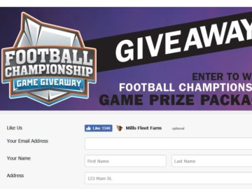 Mill's Fleet Farm Football Championship Game Giveaway Sweepstakes