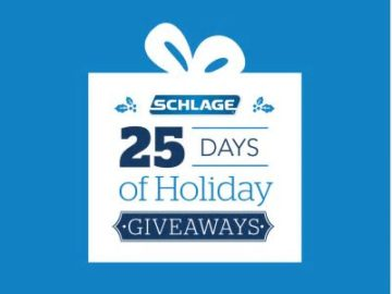Schlage Lock Company 25 Days of Holiday Giveaways Sweepstakes