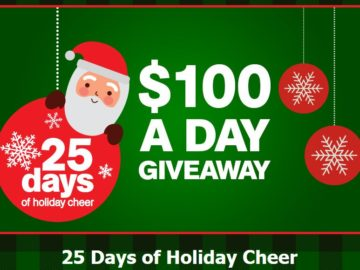 Extended Stay America's  25 Days of Holiday Cheer $100 Giveaways Sweepstakes