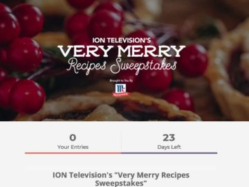 ION Television's Very Merry Recipes Sweepstakes