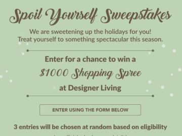 Designer Living Treat Yourself Sweepstakes – Facebook