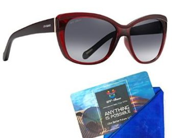 Win UV-BANS Red Cat Eye Sunglasses for Women