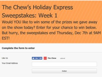 "The Chew's ""Holiday Express"" Sweepstakes"