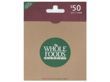 Win a $50 Whole Foods Gift Card
