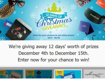 Eyemart Express 12 Days of Christmas Giveaways Sweepstakes