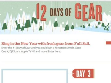 Full Sail University: 12 Days of Gear Giveaway Sweepstakes