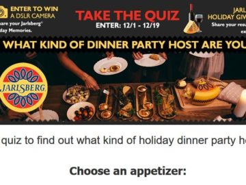Jarlsberg What Kind of Party Host are You? Sweepstakes