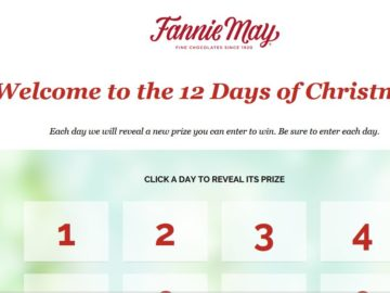 Fannie May 12 Day of Christmas Sweepstakes