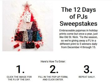 Soma's 12 Days of PJ's Sweepstakes – Facebook