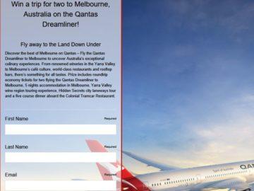 USA TODAY – Qantas Dreamliner Sweepstakes