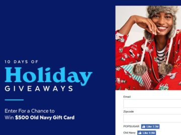 PopSugar 10 Days of Giveaways Old Navy Sweepstakes