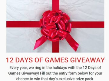 USAopoly's 2017 12 Days of Games Online Sweepstakes