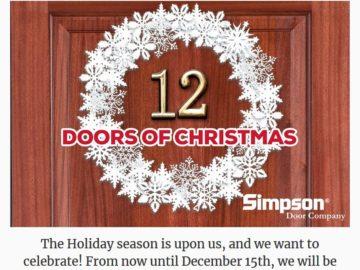 Simpson's 12 Doors of Christmas Sweepstakes