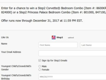 Step2 Company Happy Holidays Sweepstakes – Facebook