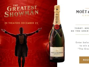 Moet Greatest Showman Sweepstakes