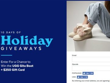 PopSugar 10 Days of Giveaways UGG Sweepstakes
