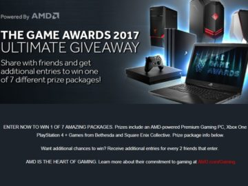 Game Awards 2017 Ultimate Giveaway-Powered by AMD Sweepstakes