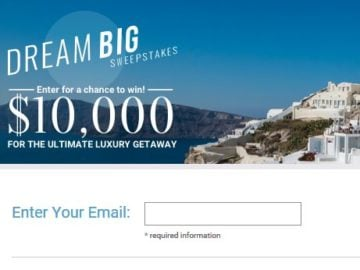 Travel & Leisure Dream Big Sweepstakes