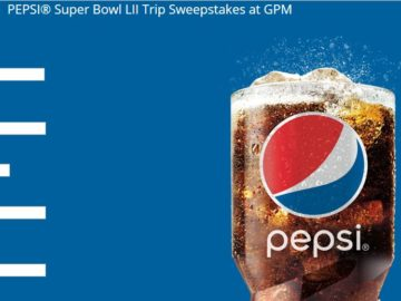 PEPSI Super Bowl LII Trip Sweepstakes – Limited States