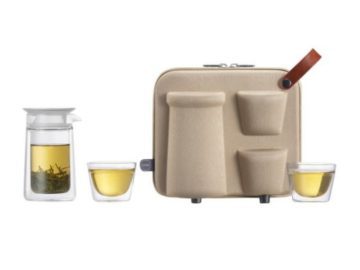 INSTANTLY WIN a ZENS Portable Travel Double Wall Glass Tea Set for 2