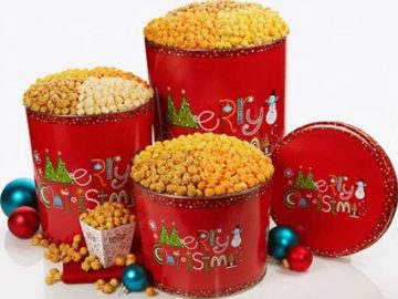 Win A Popcorn Factory Merry Christmas Popcorn Tin