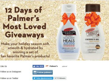 12 Days of Palmer's Most Loved Giveaway Sweepstakes