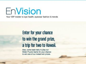 VSP EnVision Sweepstakes and Instant Win Game