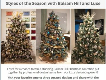 Styles of the Season with Balsam Hill and Luxe Giveaway Sweepstakes