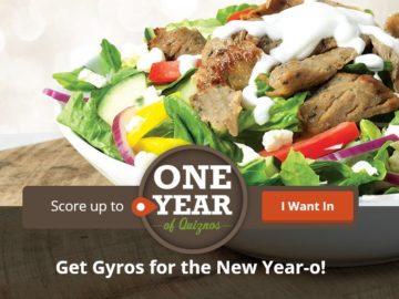 Quiznos Quikly Sweepstakes