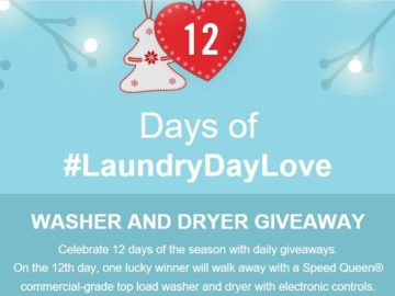 Speed Queen 12 Days of #laundrydaylove Giveaway Sweepstakes – Facebook