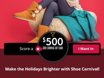 Shoe Carnival $500 gift card Sweepstakes