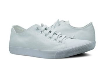 Win a Pair of Burnetie Men's White canvas Ox low top sneaker