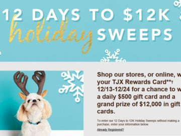 12 Days to 12K Holiday Sweepstakes