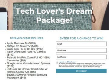 Tech Deals Tech Lover's Dream Package Sweepstakes