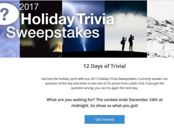 Weather Company Holiday Trivia Sweepstakes
