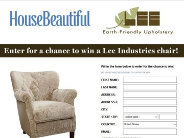 House Beautiful Lee Industries Sweepstakes