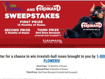 Cinemark Ferdinand Rose Bouquet Sweepstakes