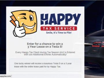 Happy Tax Service Tesla Tax Season Giveaway Sweepstakes