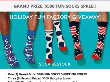 Fun Socks Giveaway Sweepstakes