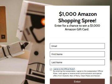Win a $1,000 Amazon Shopping Spree
