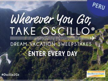 Wherever You Go, Take Oscillo Sweepstakes